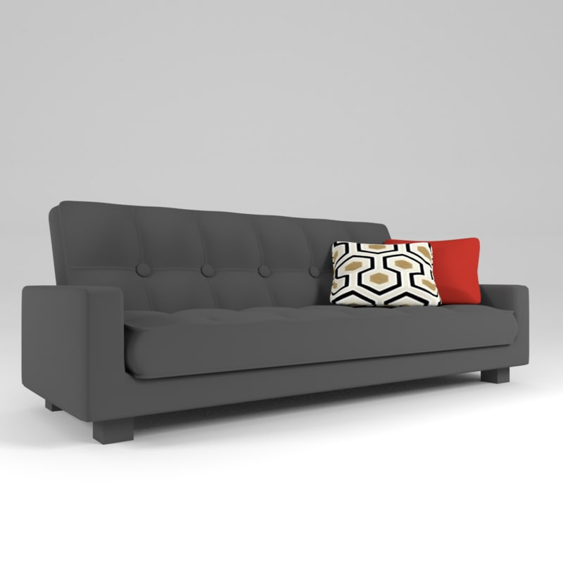 3d model gray couch