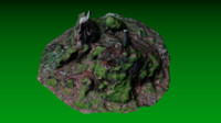 3d forest stump