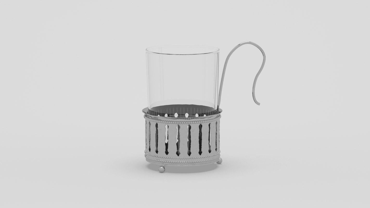 3d arabic tea cup model
