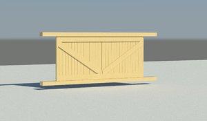 Barn Shed shutters REVIT