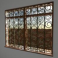 organic window designs 3d model