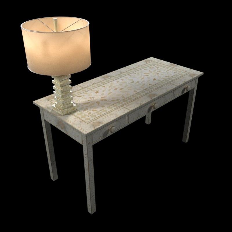 3ds max light wisteria moorish desk