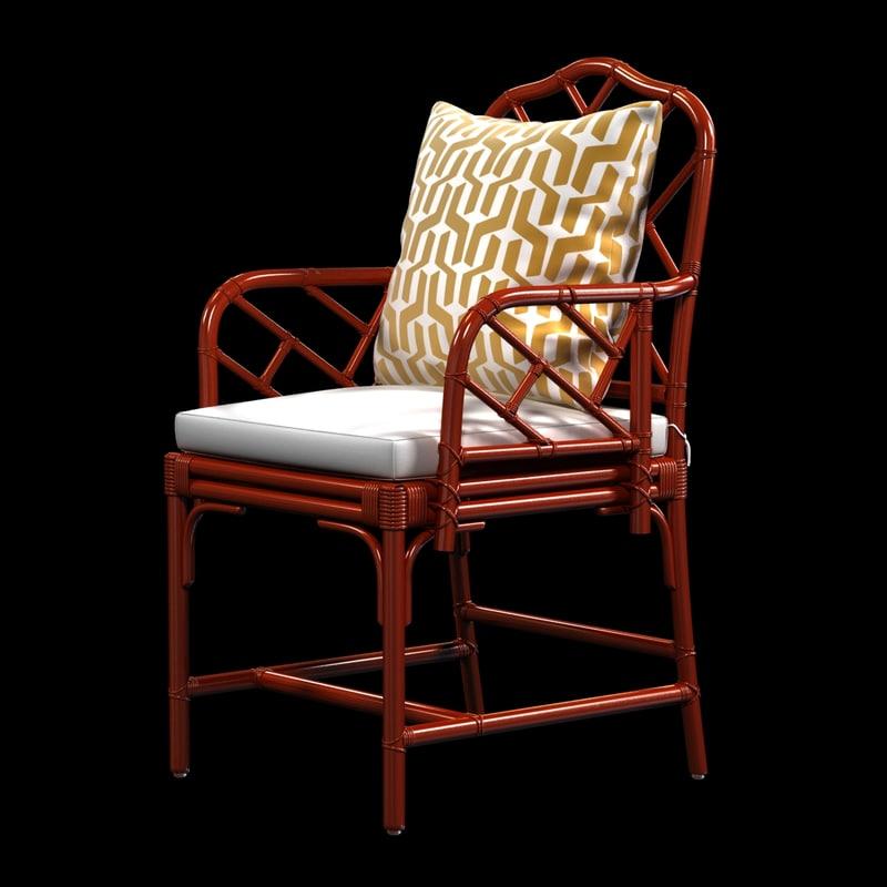 3d chair macau arm