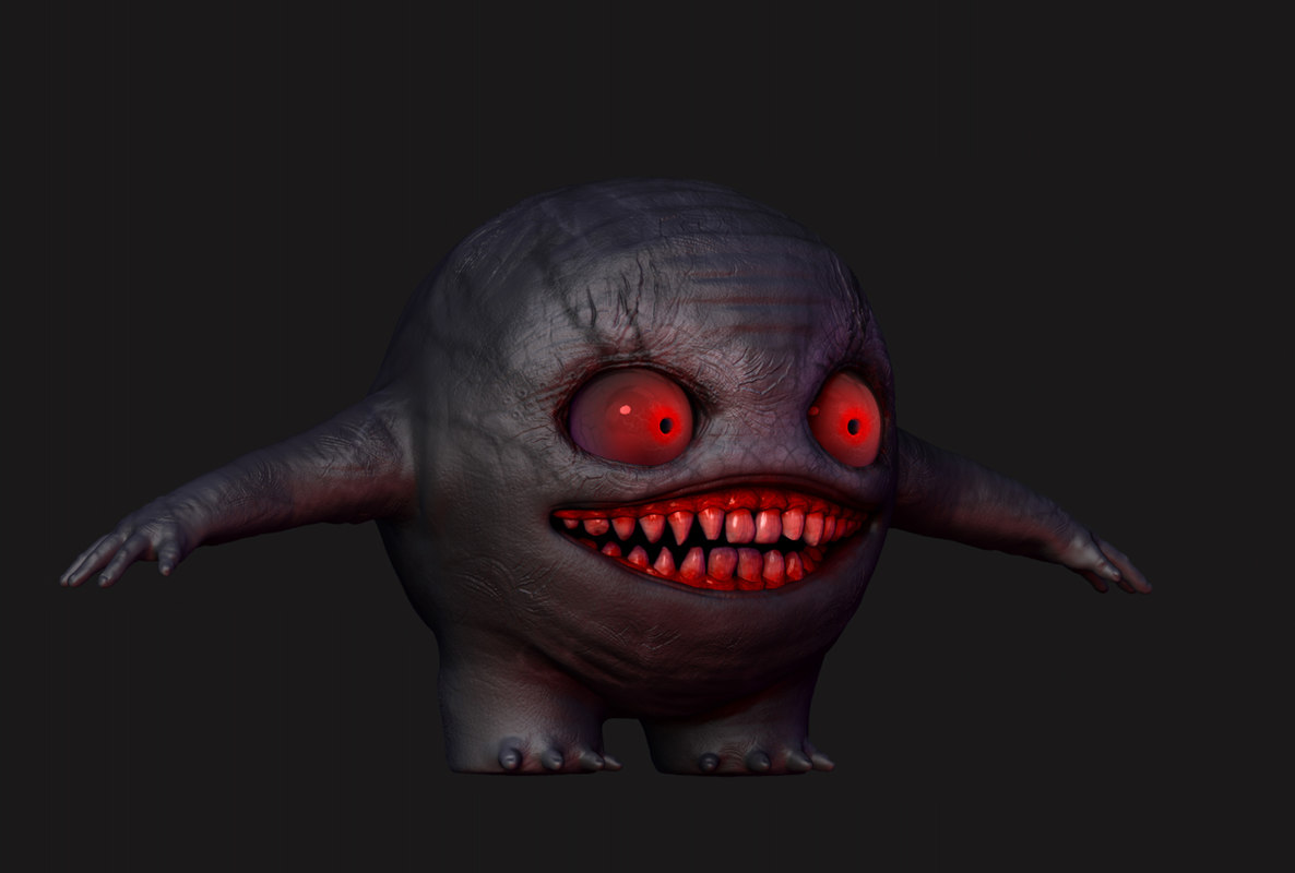small monster 3d obj