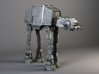 Star Wars AT-AT Walker rigged for Maya