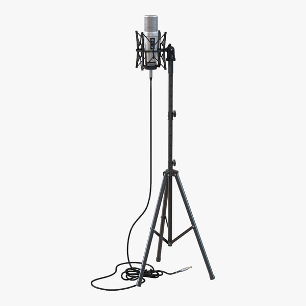3d studio microphone stand 2