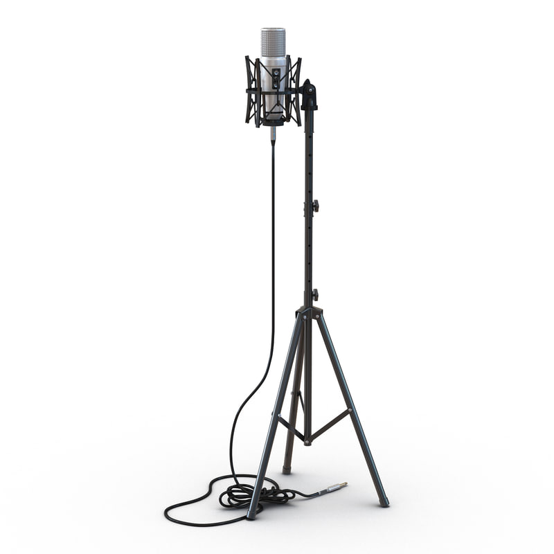 3d studio microphone stand 2