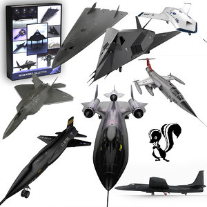 3d model 8 aircraft skunk works