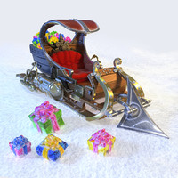 sleigh sledges sleds 3ds