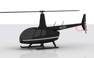 3ds max helicopter robinson r66