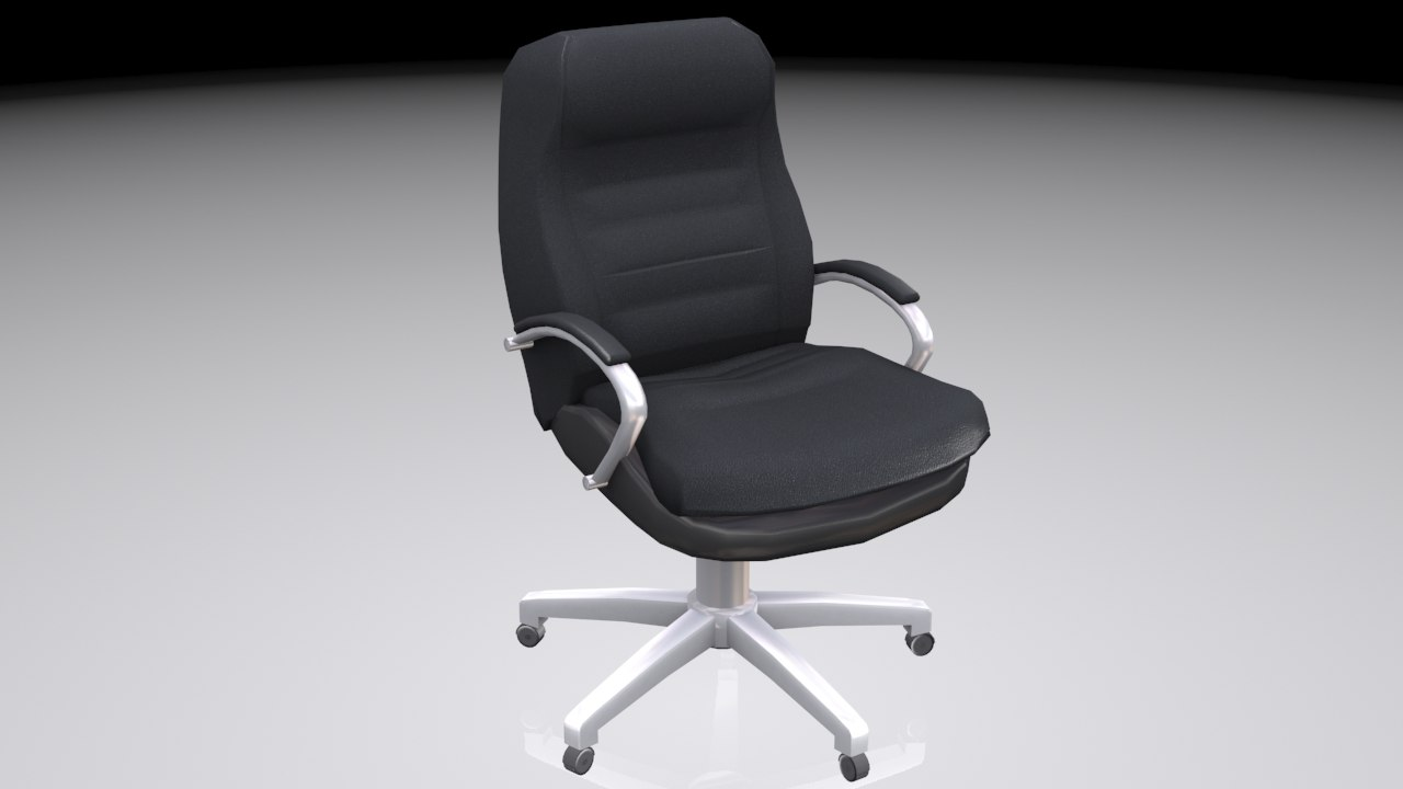 resolution office chair 3d max