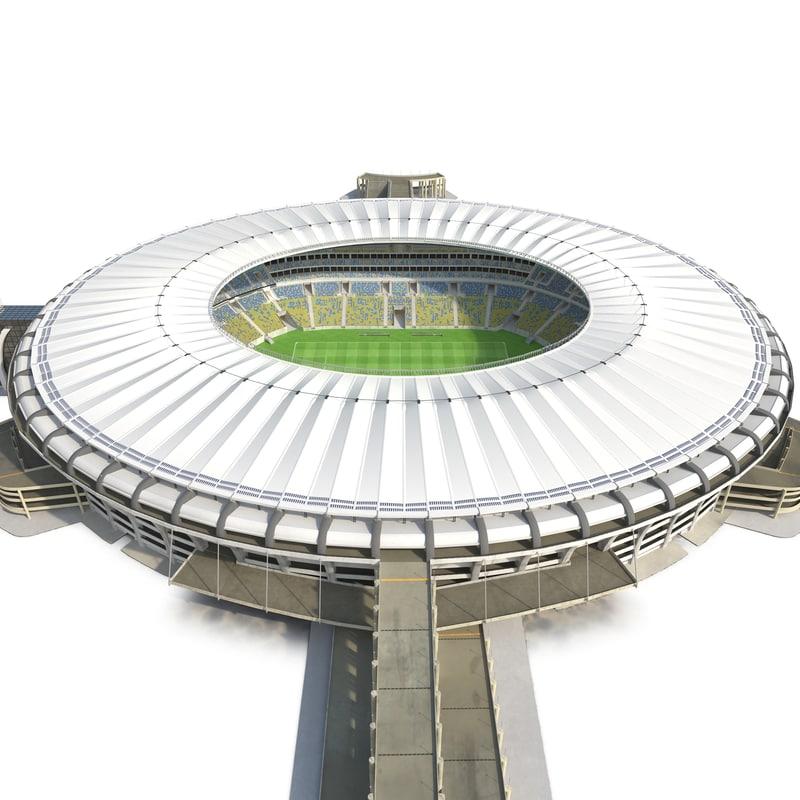 football stadium maracana 3d model