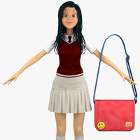 Teenage Girl Student 5c (Sweater Vest)