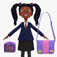 3d school student blazer model