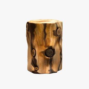 3d table natural tree stump