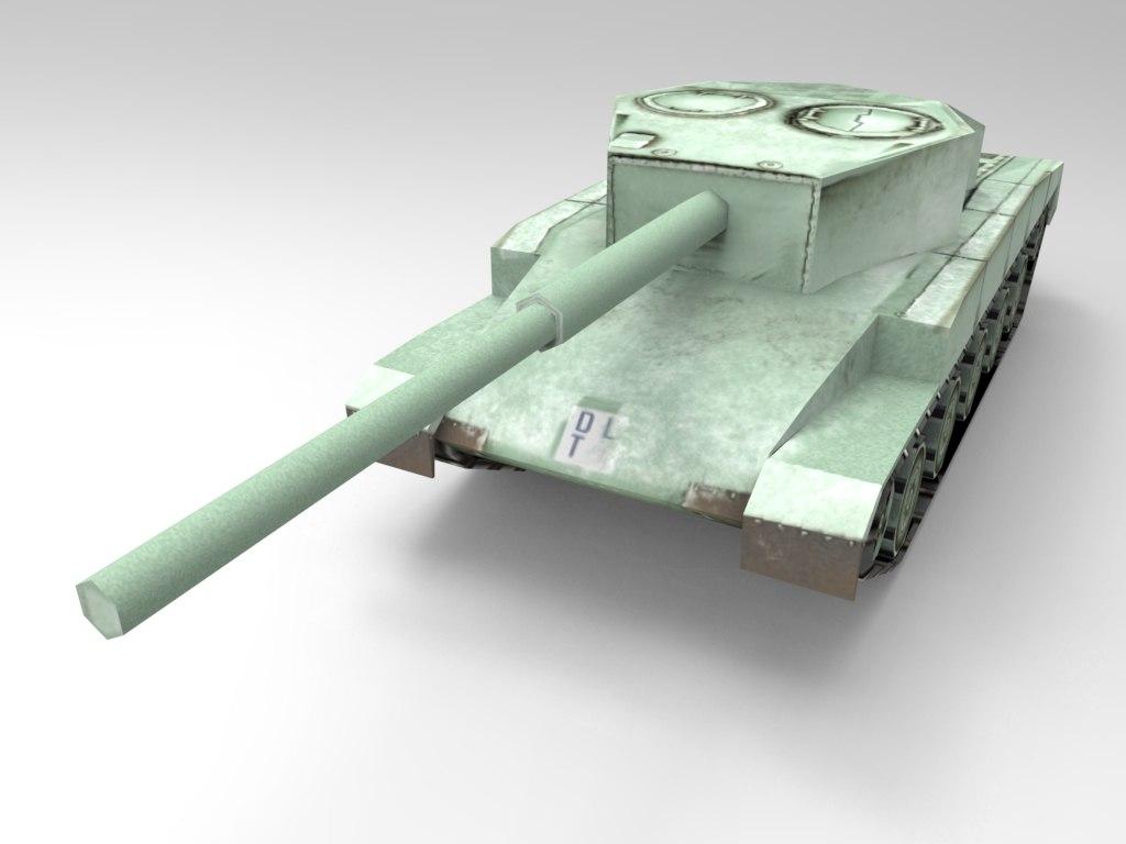 3d model army tank