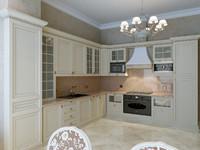 interior classic kitchen scene 3d model
