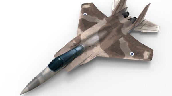 3d model army-jet
