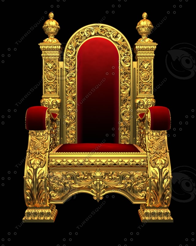 3d royal chair armchair