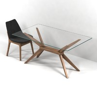Magna Glass Dining Table by inmod  sohoconcept eiffel wood chair