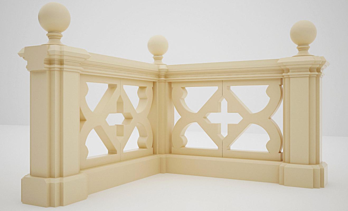 3ds max handrail