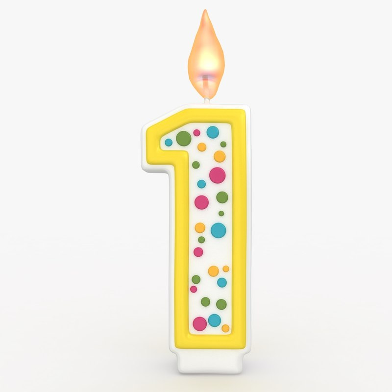 realistic number candles 1 3ds