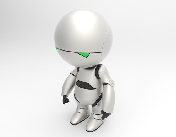marvin paranoid android 3d model