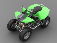 3d model of high-poly quad bike