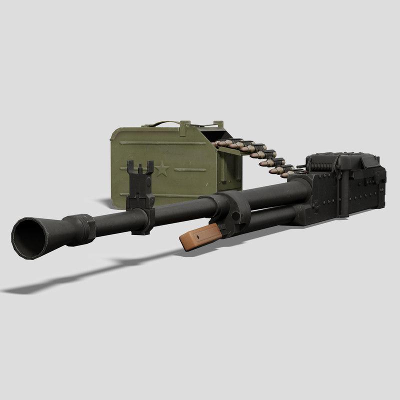 heavy machine gun nsv 3d max