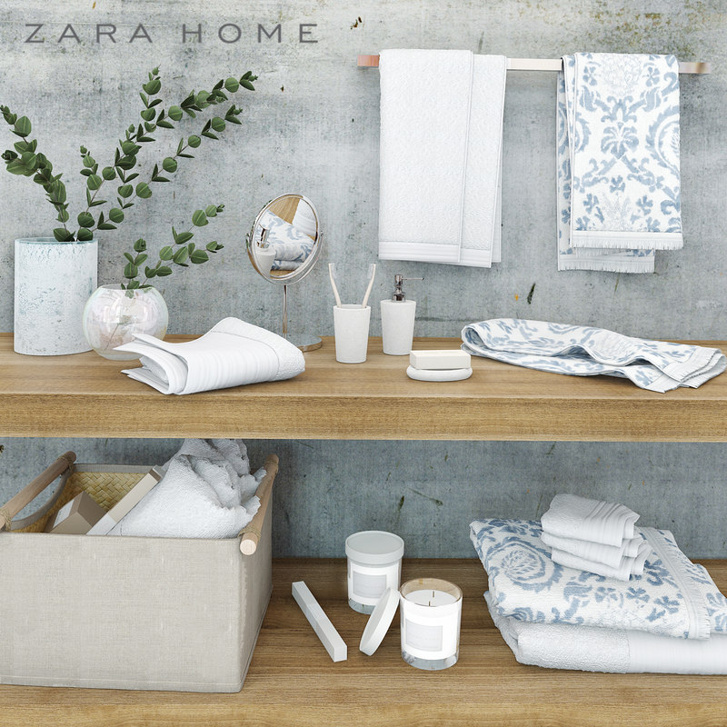 3d bathroom accessories zara home