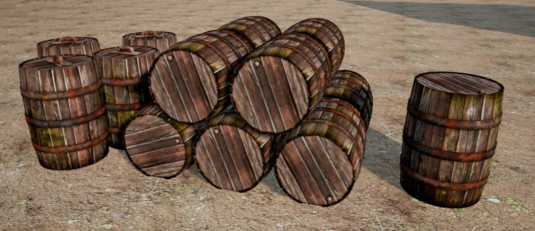 3ds old barrels