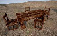 fbx table chair