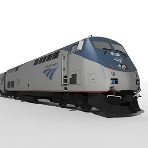 3d model ge genesis p42dc amtrak train