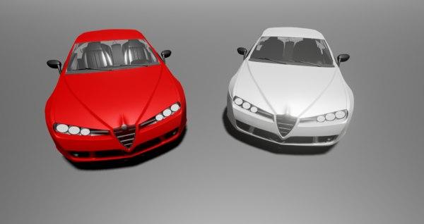 alfa romeo brera | 3d model