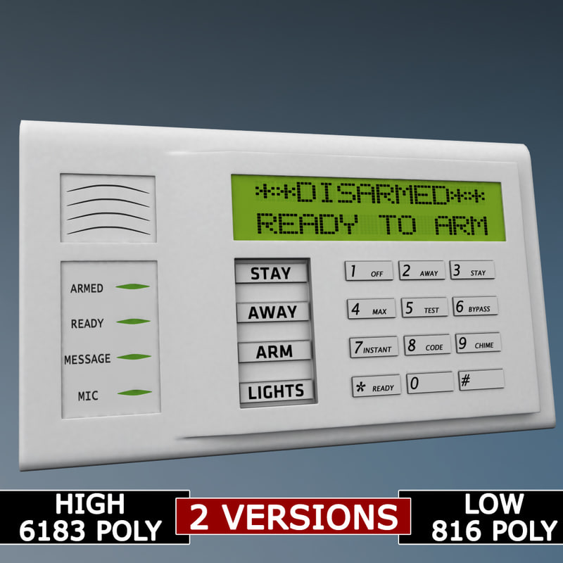 3d alarm keypad polys