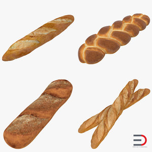3d model bakery products