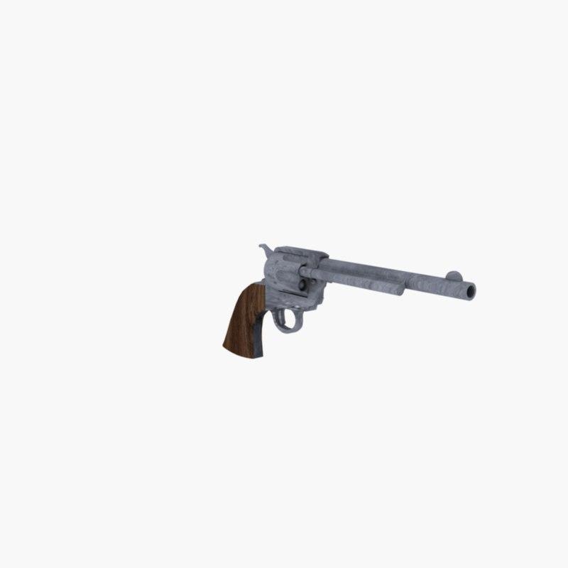 3d colt peacemaker revolver firearms model