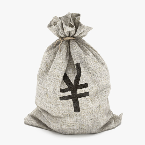 money bag yen 3d model