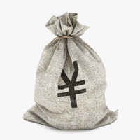 money bag yen 3d model
