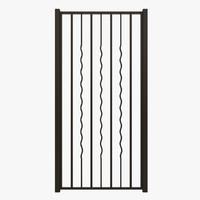 wrought iron gate 3d obj