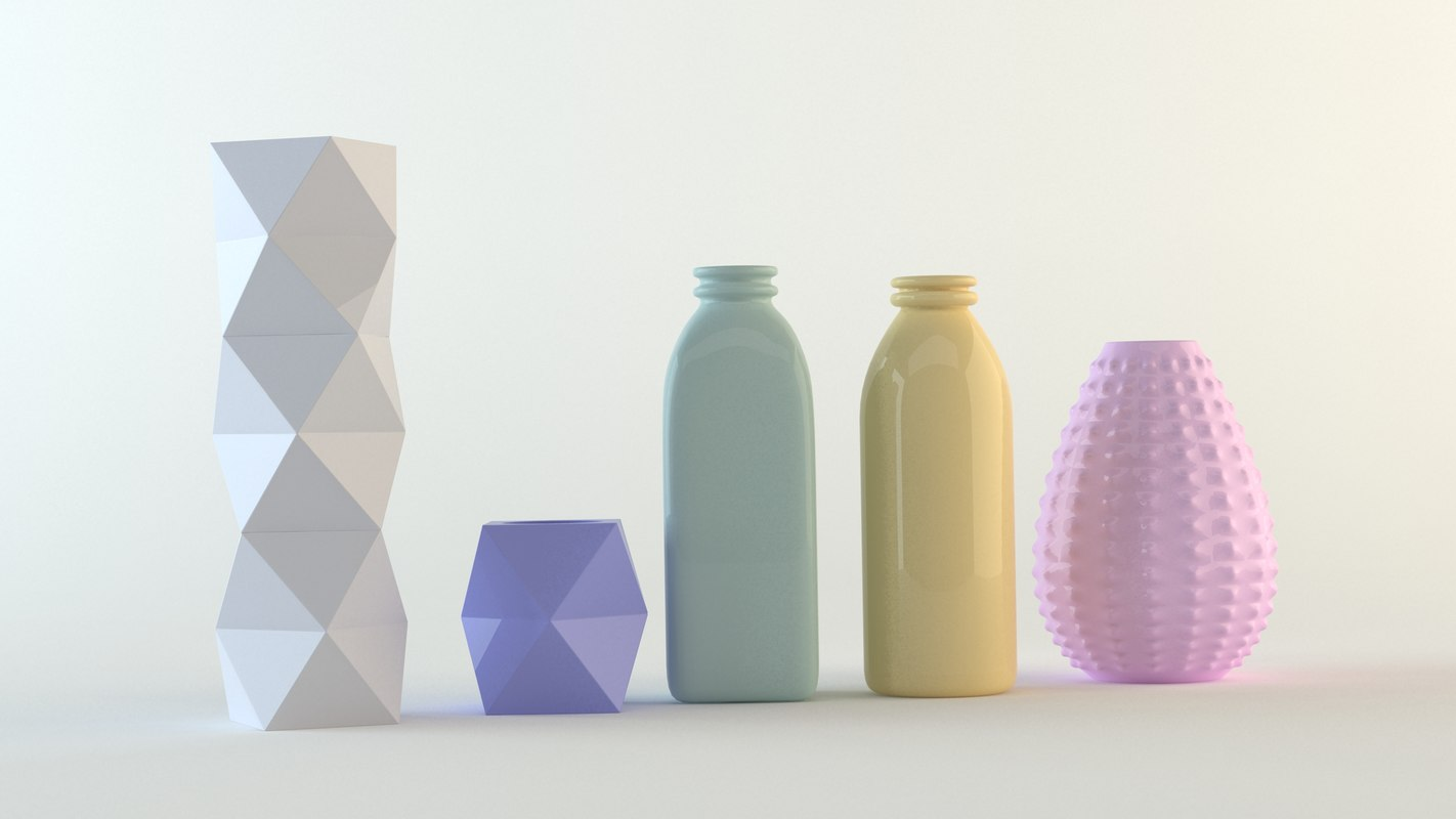 3ds max ceramic vases