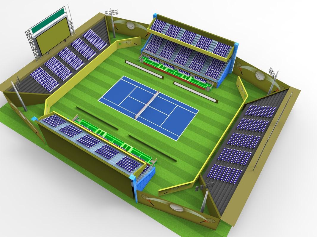 3d custom stadium model