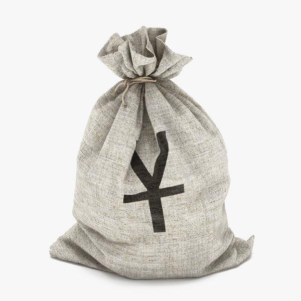 money bag yuan 3d max