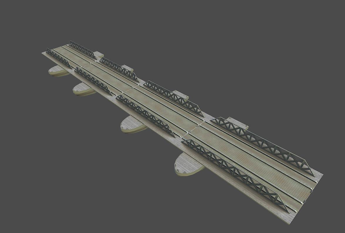 3d pontoon bridge