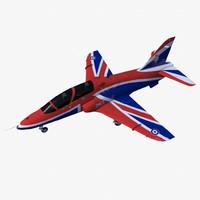 3d model bae hawk t1