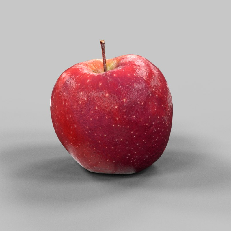 3d model photorealistic apple