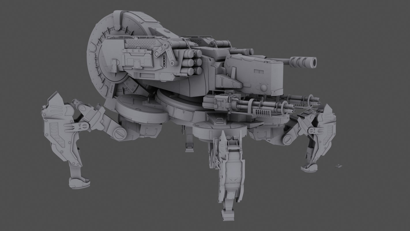 3d model of spider tank