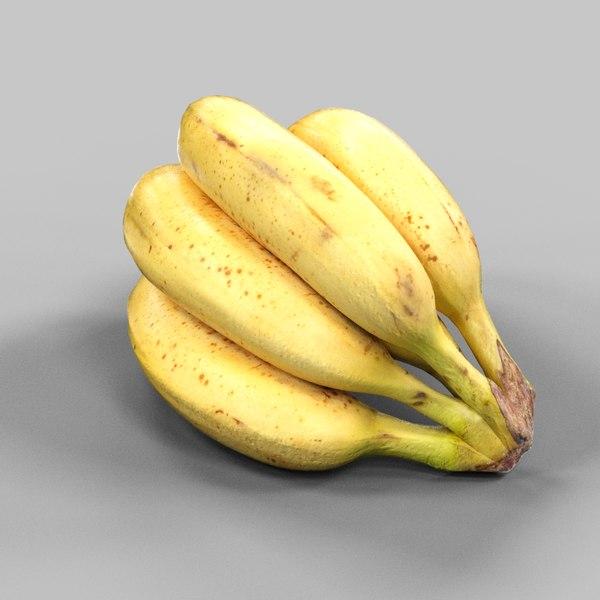 photorealistic banana tros 3d model