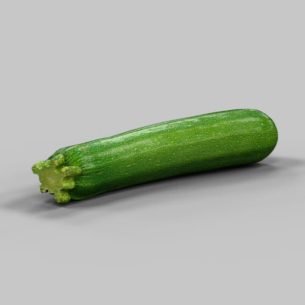 3d model of photorealistic courgette