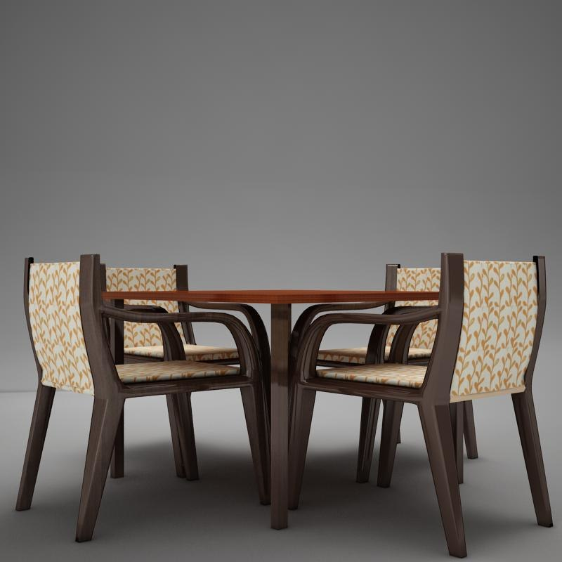 dinning table set 3d model